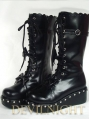 Black/White Sweet Punk Lolita Bow Platform Boots