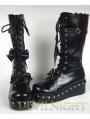 Black/White Sweet Punk Lolita Bow Platform Boots