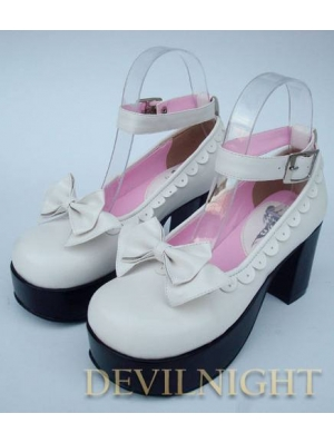 White/Pink/Black/Red Princess Style High Heel Sweet Lolita Shoes