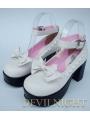 White/Pink/Black/Red Princess Style High Heel Sweet Lolita Shoes