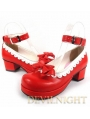 Red Middle Heel Girl Style Sweet Lolita Shoes