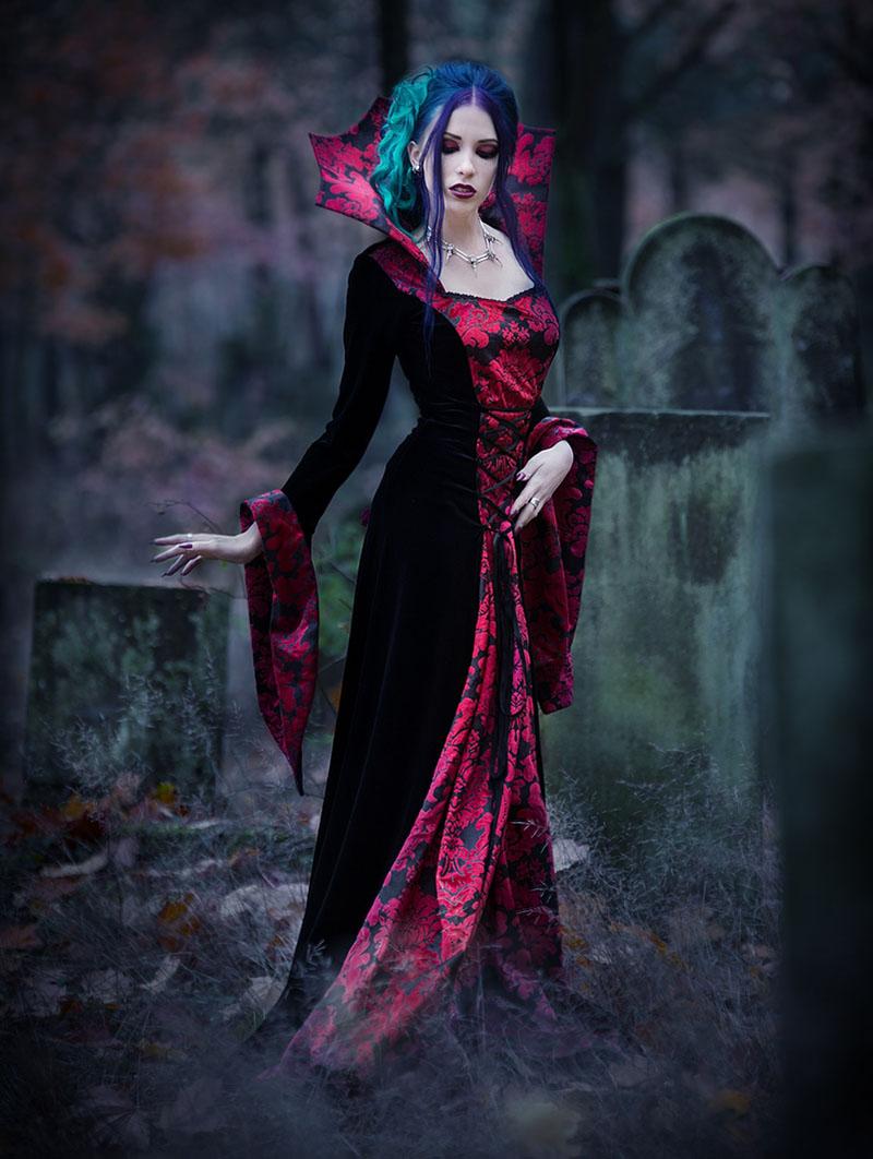 Black And Red Gothic Medieval Vampire Dress Devilnight Co Uk
